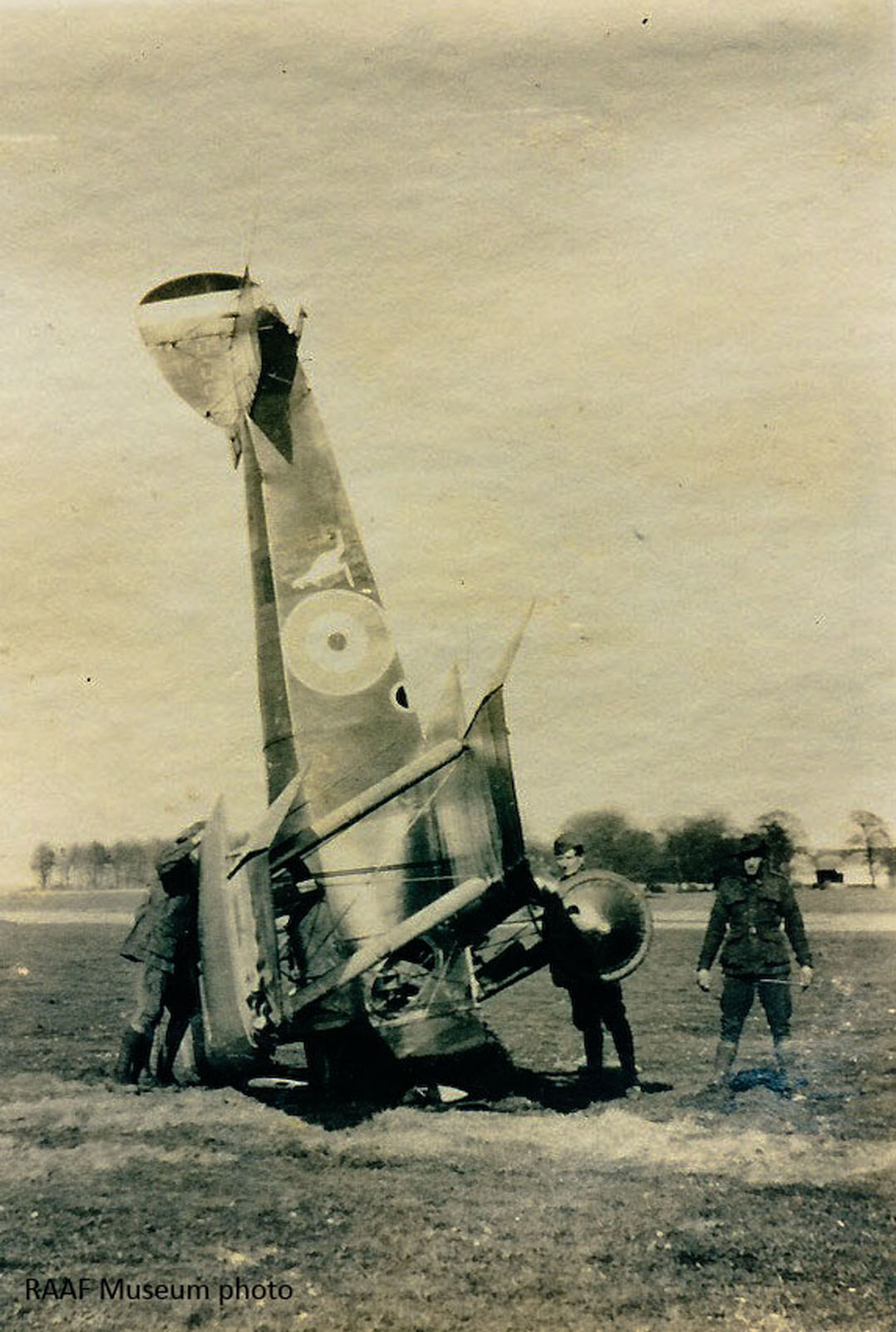 A damaged Australian Sopwith Camel as flown by 4 Sqn AFC (RAAF Museum)