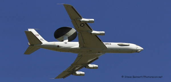 Boeing E-3 Sentry AWACS #78-0578, Pease fly over