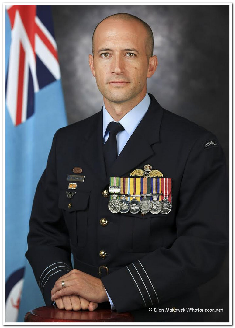 Commanding Officer of No 11 Squadron, Wing Commander David Titheridge.