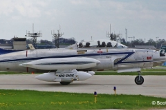 C-FSKF Canadian Government T-33 taxiing to Signature MKE 5-17-14